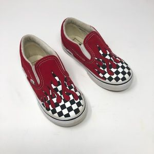 Toddler Vans Checkerboard Flame
